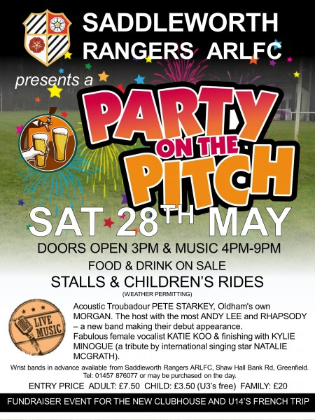 Party on the Pitch to raise clubhouse funds